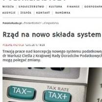 Dr Mariusz Cieśla o rządowych propozycjach zmiany systemu podatkowego w Polskim Radio 24