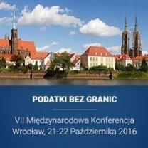 """Zaproszenie na VII Międzynarodową Konferencję """"Podatki bez granic"""""""