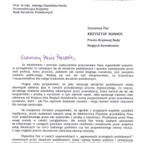 Pismo Przewodniczącej KRDP do Prezesa Krajowej Rady Biegłych Rewidentów