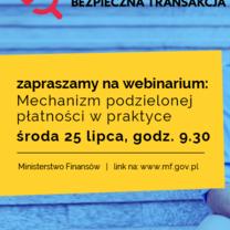 Ministerstwo Finansów i Krajowa Izba Doradców Podatkowych zapraszają na webinarium nt. mechanizmu podzielonej płatności w praktyce