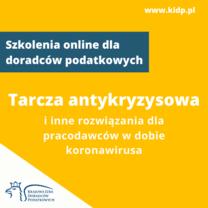 Prawo pracy i tarcza antykryzysowa - szkolenie e-learningowe dla doradców podatkowych