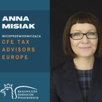 Anna Misiak po raz drugi w zarządzie CFE Tax Advisers Europe