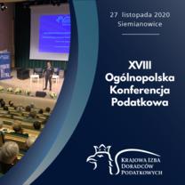 XVIII Ogólnopolska Konferencja Podatkowa z transmisją online