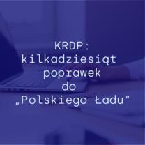 """KRDP: Kilkadziesiąt poprawek do """"Polskiego Ładu"""""""